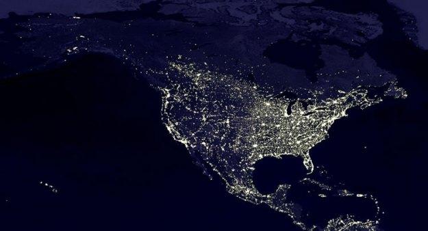 Amérique du nord - nuit
